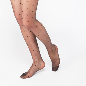 ELLE Polka Dot Printed Tights