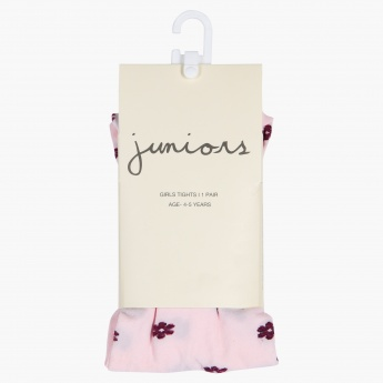 Juniors Printed Tights with Elasticised Waistband