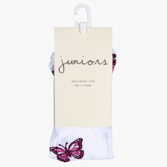 Juniors Embroidered Tights with Elasticised Waistband