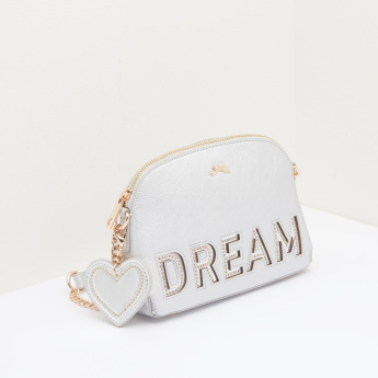 Missy Crossbody Bag with Studded Text Detail