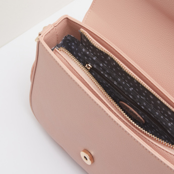 Missy Studded Satchel Bag with Heart Charm