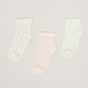 Assorted Crew Length Socks - Set of 3