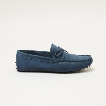Barefeet Slip-On Loafers with  Bow Detail
