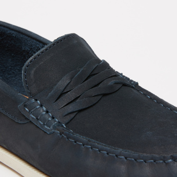 Stitch Detail Slip-On Moccasins