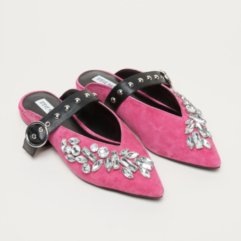 STEVE MADDEN Embellished Slip-On Slides