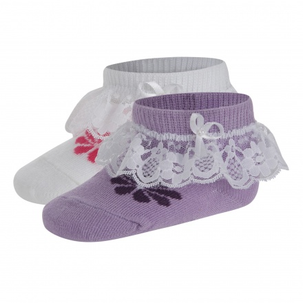 Juniors Embellished Frill Socks - Set of 2