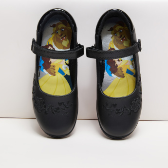 Beauty and the Beast Embroidered Mary Jane Shoes