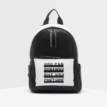 Lee Cooper Dual Tone Backpack with Slogan Print