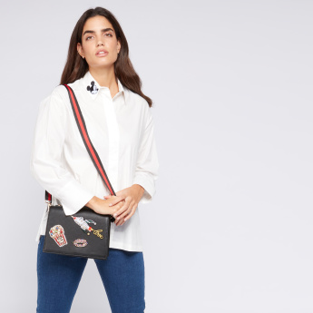 Missy Satchel Bag with Patchwork