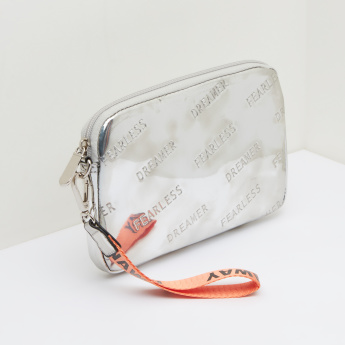 Missy Embossed Pouch with Printed Wristlet