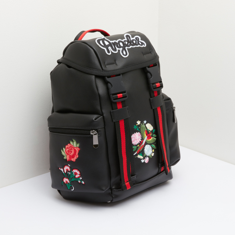 Missy Drawstring Backpack with Embroidery