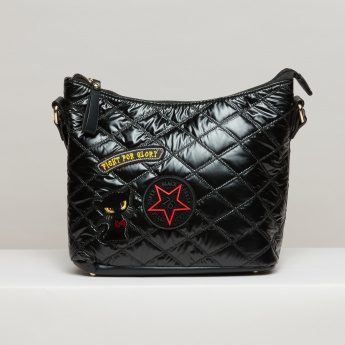 Missy Quilted Crossbody Bag with Zip Closure and Adjustable Strap