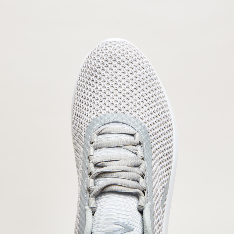 Textured Lace-Up Walking Shoes