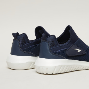 Dash Textured Sneakers with Hook and Loop Closure