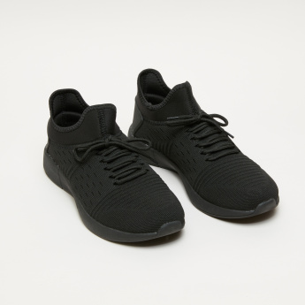 Men's Textured Lace Up Walking Shoes