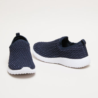 Girls' Quilted Slip On Sneakers