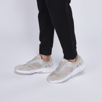 Kappa Mesh Panelled Shoes with Lace-Up Closure