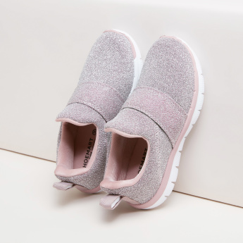 Textured Slip-On Shoes with Vamp Light Detail