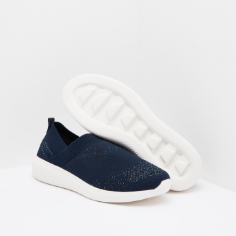 Women's Textured Slip On Low Top Walking Shoes