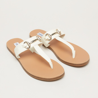 STEVE MADDEN Metallic Detail Slides