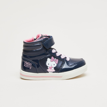 Hello Kitty Printed High Top Shoes with Zip Closure