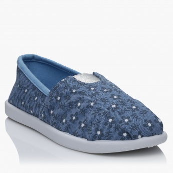 Little Missy Printed Slip-On Shoes
