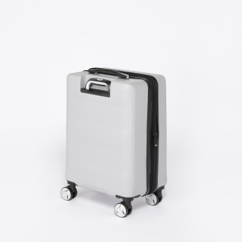Mia Toro Hard Case Trolley Bag with Retractable Handle