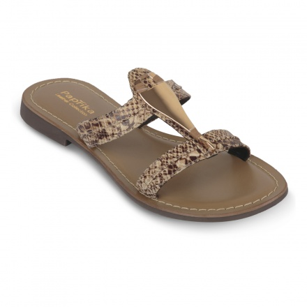 Paprika Flat Leather Sandals