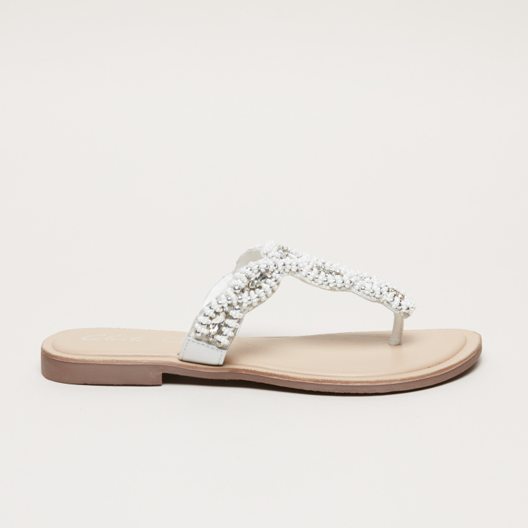 Celeste Embellished Thong Sandals