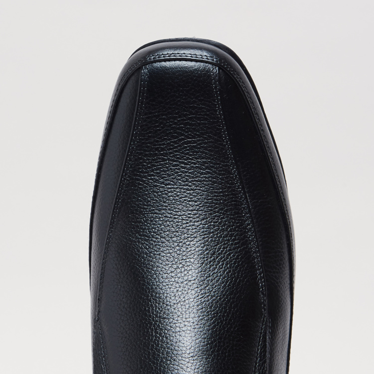 Textured Slip-On Formal Shoes