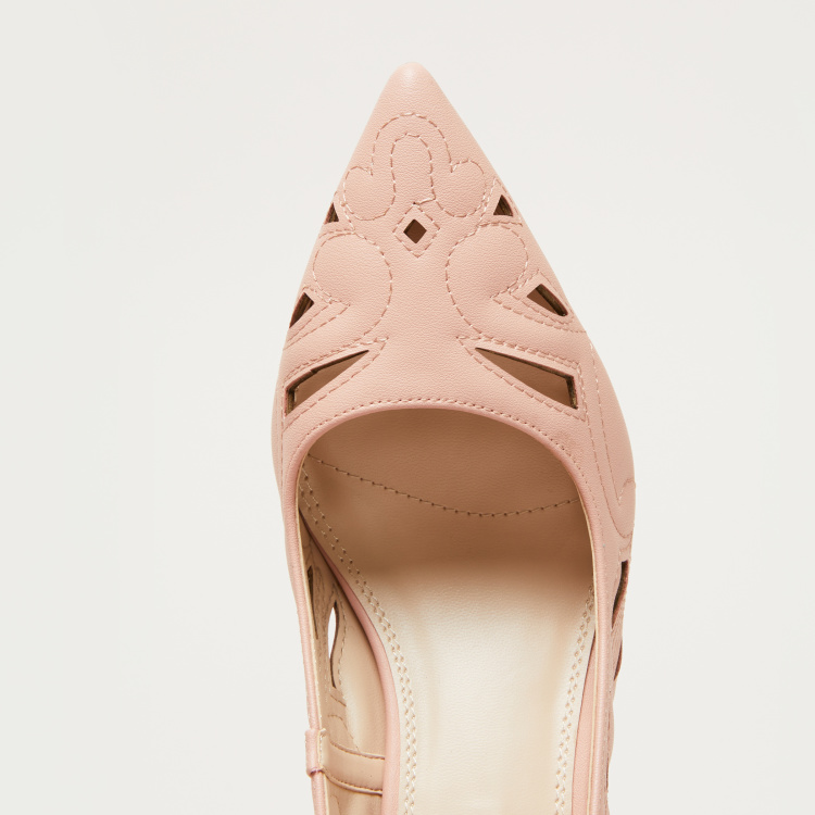 Elle Laser Cut Detail Stilettos Pumps