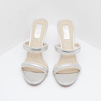 Slip-On Stilettos with Pearl Accent