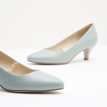 Pointed Toe Pumps with Kitten Heels