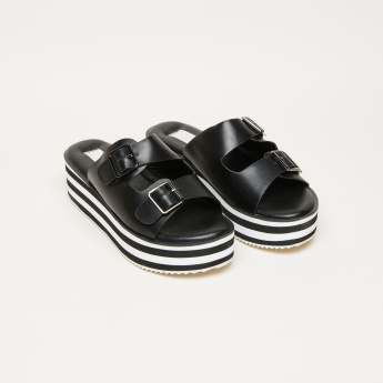 Striped Midsole Slides