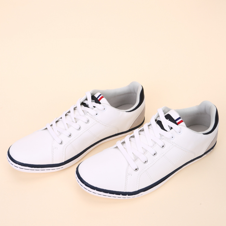 Lee Cooper Textured Sneakers with Lace-Up Closure