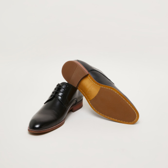Stitch Detail Lace-Up Derby Shoes