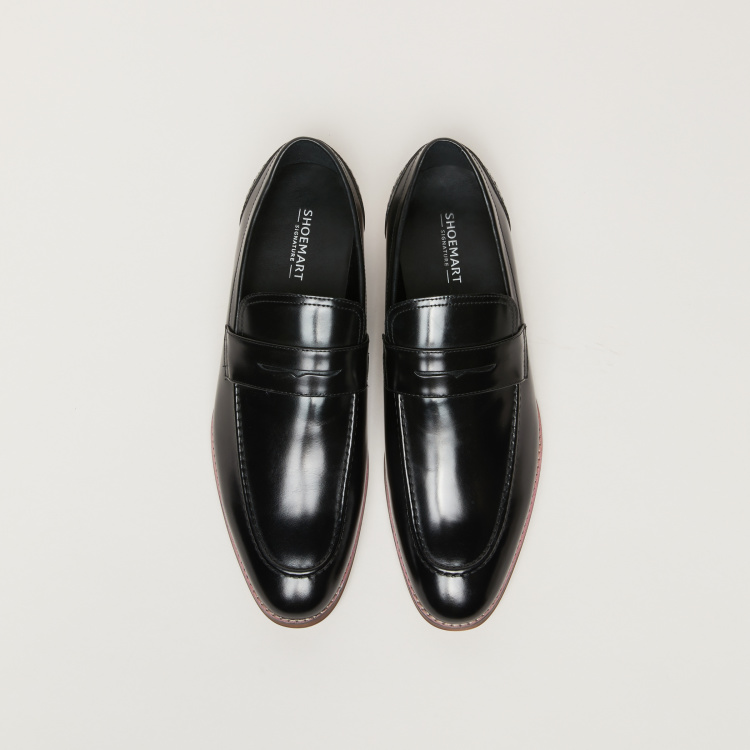 Slip-On Loafers with Vamp Band
