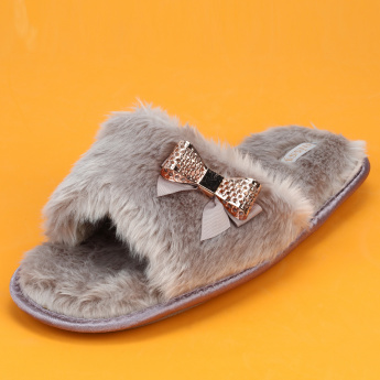 Missy Plush Detail Slides