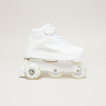 Girls' Roller Skate Shoes with Detachable Wheels