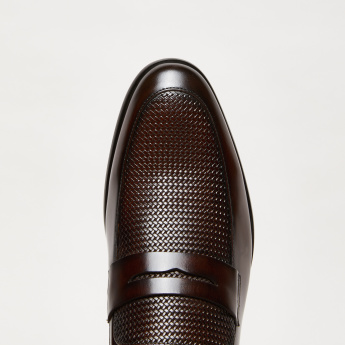 Textured Slip-On Formal Loafers