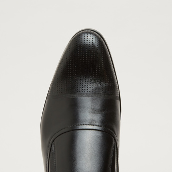 Stitch Detail Loafers with Perforated Vamp