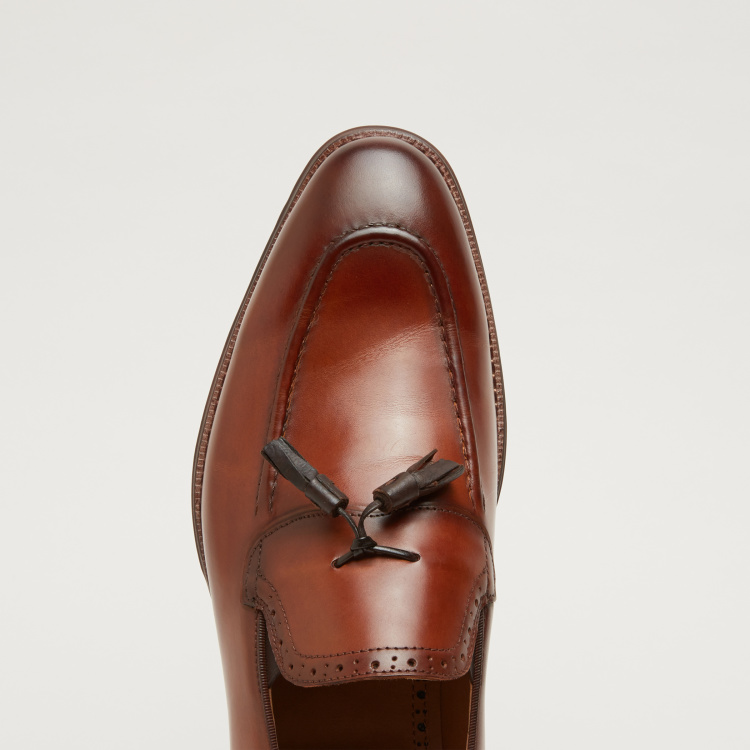 Tassel Detail Loafers with Elasticised Gussets