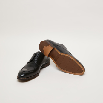 Stitch Detail Derby Shoes with Lace-Up Closure