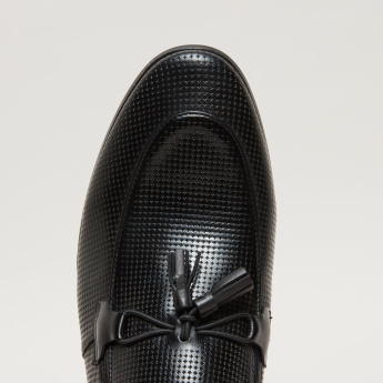 Textured Slip-On Loafers with Elasticised Gussets