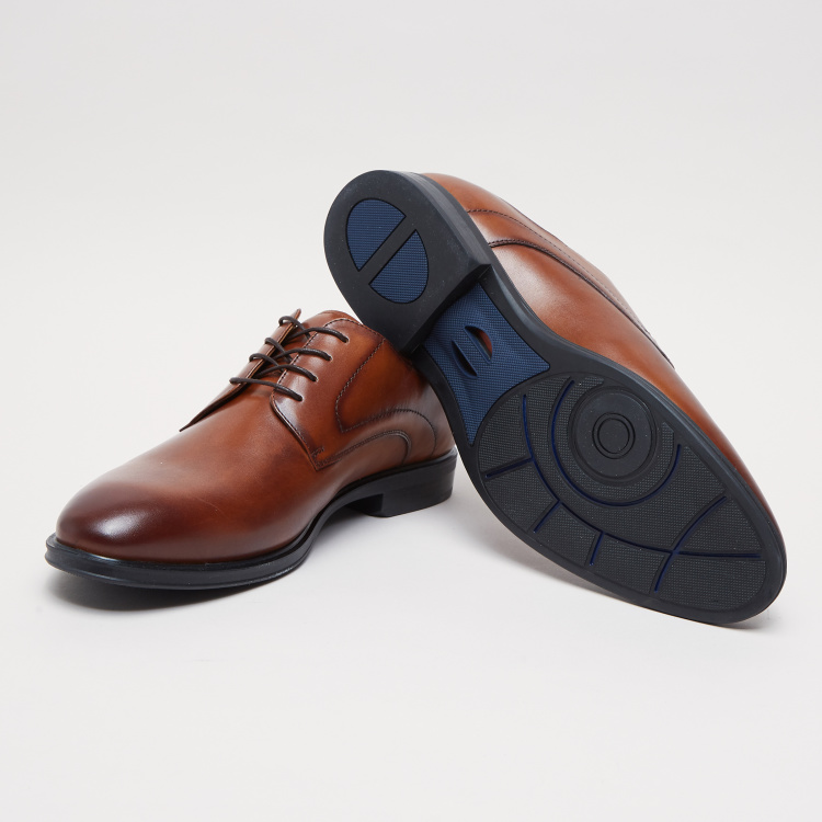 Lace-Up Derby Shoes with Stitch Detail