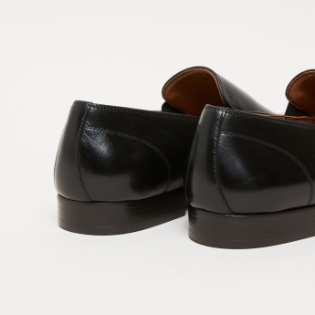 Slip-On Loafers with Stitch Detail and Elasticised Gussets