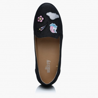 Little Missy Embroidered Ballerina Shoes