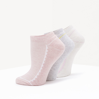 Printed Ankle Length Socks with Elasticated Hem - Set of 3