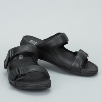 FIT FLOP Dual-Strap Slides with Hook and Loop Closure