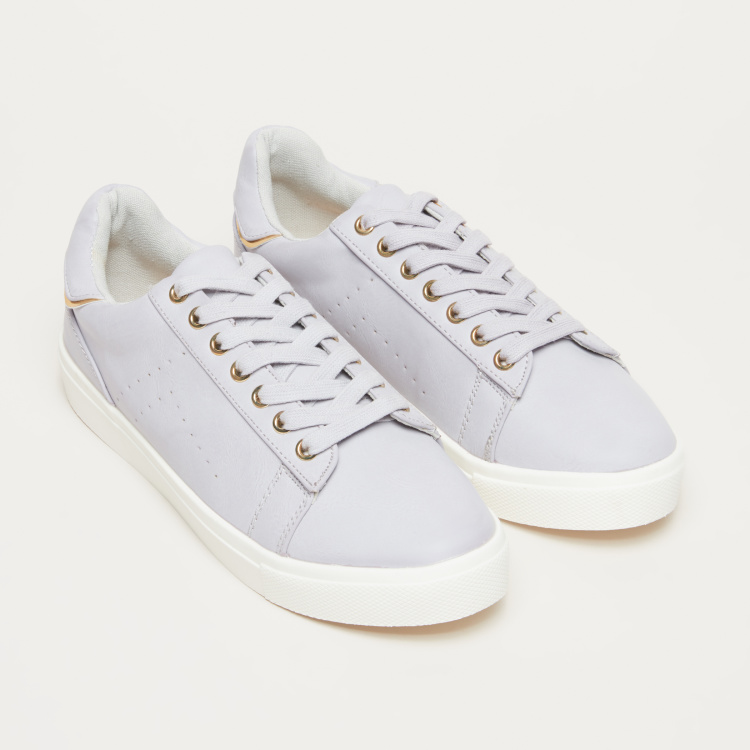 Perforated Lace-Up Sneakers